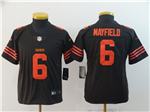 Cleveland Browns #6 Baker Mayfield Youth Brown Vapor Untouchable Color Rush Limited Jersey