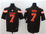 Cleveland Browns #7 DeShone Kizer Brown Vapor Untouchable Limited Jersey
