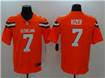 Cleveland Browns #7 DeShone Kizer Orange Vapor Untouchable Limited Jersey