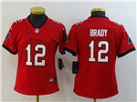 Tampa Bay Buccaneers #12 Tom Brady Women's 2020 Red Vapor Limited Jersey