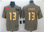 Tampa Bay Buccaneers #13 Mike Evans 2019 Olive Gold Salute To Service Limited Jersey