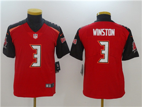 Tampa Bay Buccaneers #3 Jameis Winston Youth Red Vapor Untouchable Limited Jersey