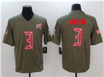 Tampa Bay Buccaneers #3 Jameis Winston 2017 Olive Salute To Service Limited Jersey