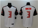 Tampa Bay Buccaneers #3 Jameis Winston White Vapor Untouchable Limited Jersey