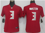 Tampa Bay Buccaneers #3 Jameis Winston Women's Red Color Rush Limited Jersey