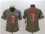 Tampa Bay Buccaneers #3 Jameis Winston 2017 Women's Olive Salute To Service Limited Jersey