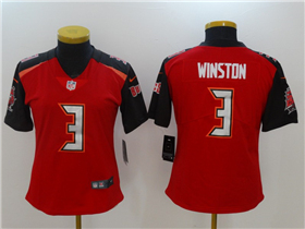 Tampa Bay Buccaneers #3 Jameis Winston Women's Red Vapor Untouchable Limited Jersey