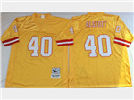 Tampa Bay Buccaneers #40 Mike Alstott Throwback Gold Jersey