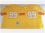 Tampa Bay Buccaneers #99 Warren Sapp Throwback Gold Jersey
