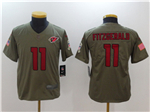 Arizona Cardinals #11 Larry Fitzgerald Youth Olive Salute To Service Limited Jersey