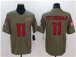Arizona Cardinals #11 Larry Fitzgerald 2017 Olive Salute To Service Limited Jersey