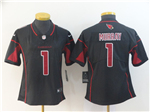 Arizona Cardinals #1 Kyler Murray Women's Black Color Rush Limited Jersey