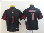 Arizona Cardinals #1 Kyler Murray Youth Black Vapor Untouchable Limited Jersey