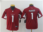 Arizona Cardinals #1 Kyler Murray Youth Red Vapor Untouchable Limited Jersey