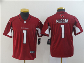 Arizona Cardinals #1 Kyler Murray Youth Red Vapor Limited Jersey