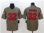 Arizona Cardinals #32 Tyrann Mathieu 2017 Olive Salute To Service Limited Jersey