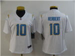 Los Angeles Chargers #10 Justin Herbert Women's White Vapor Limited Jersey