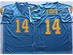 San Diego Chargers #14 Dan Fouts Throwback Powder Blue Jersey