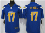 Los Angeles Chargers #17 Philip Rivers Blue Color Rush Limited Jersey