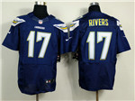 Los Angeles Chargers #17 Philip Rivers Elite Navy Blue Jersey