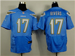 Los Angeles Chargers #17 Philip Rivers Elite Powder Blue Jersey