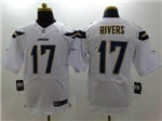 Los Angeles Chargers #17 Philip Rivers Elite White Jersey