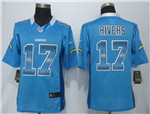 Los Angeles Chargers #17 Philip Rivers Blue Pro Line Fashion Strobe Jersey