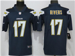 Los Angeles Chargers #17 Philip Rivers Navy Blue Vapor Untouchable Limited Jersey