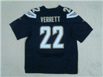 Los Angeles Chargers #22 Jason Verrett Elite Navy Blue Jersey