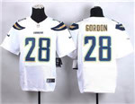 Los Angeles Chargers #28 Melvin Gordon Elite White Jersey