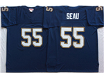 San Diego Chargers #55 Junior Seau Throwback Navy Blue Jersey