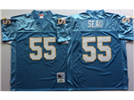San Diego Chargers #55 Junior Seau Throwback Powder Blue Jersey