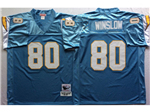 San Diego Chargers #80 Kellen Winslow Throwback Powder Blue Jersey