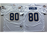 San Diego Chargers #80 Kellen Winslow Throwback White Jersey