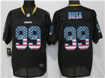 Los Angeles Chargers #99 Joey Bosa Black USA Flag Elite Jersey