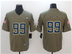 Los Angeles Chargers #99 Joey Bosa 2017 Olive Salute To Service Limited Jersey