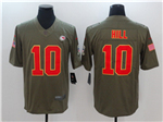 Kansas City Chiefs #10 Tyreek Hill 2017 Olive Salute To Service Limited Jersey