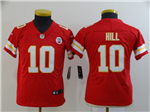 Kansas City Chiefs #10 Tyreek Hill Youth Red Vapor Untouchable Limited Jersey