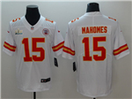 Kansas City Chiefs #15 Patrick Mahomes White Super Bowl LIV Vapor Untouchable Limited Jersey