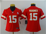 Kansas City Chiefs #15 Patrick Mahomes Women's Red Vapor Untouchable Limited Jersey