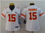 Kansas City Chiefs #15 Patrick Mahomes Women's White Super Bowl LV Limited Jersey