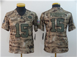 Kansas City Chiefs #15 Patrick Mahomes Youth 2018 Camo Salute To Service Limited Jersey