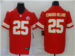 Kansas City Chiefs #25 Clyde Edwards-Helaire Red Vapor Untouchable Limited Jersey