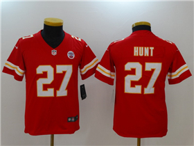 Kansas City Chiefs #27 Kareem Hunt Youth Red Vapor Untouchable Limited Jersey