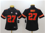 Kansas City Chiefs #27 Kareem Hunt Women's Black Vapor Untouchable Limited Jersey