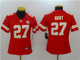 Kansas City Chiefs #27 Kareem Hunt Women's Red Vapor Untouchable Limited Jersey