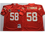 Kansas City Chiefs #58 Derrick Thomas Throwback Red Jersey