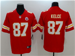 Kansas City Chiefs #87 Travis Kelce Red Vapor Untouchable Limited Jersey