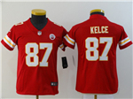 Kansas City Chiefs #87 Travis Kelce Youth Red Vapor Untouchable Limited Jersey