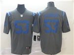 Indianapolis Colts #53 Darius Leonard Gray Inverted Limited Jersey